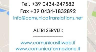 dati studio COMUNICA SERVIZI di Pordenone - Agenzia di Traduzioni e interpretariato specializzata